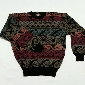Vtg Uniform Code Fuzzy Pullover Sweater Grandpa